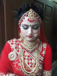 Beautiful Bridal Makeover by stylo salon and makeover studio